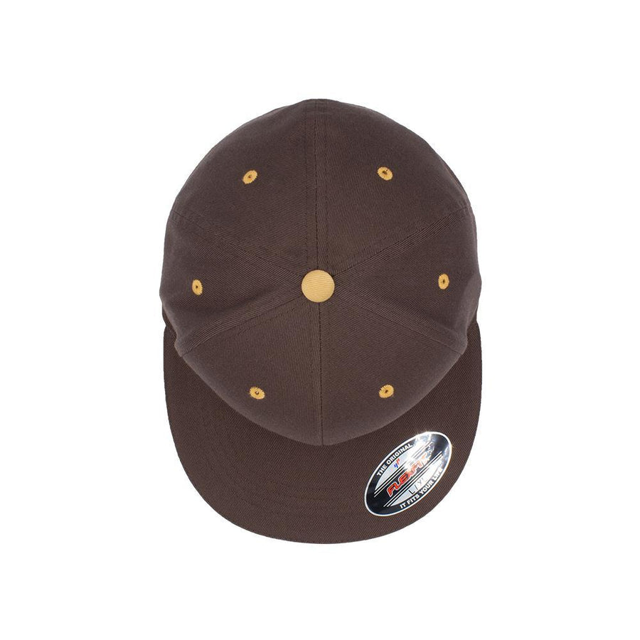 Flexfit Flat Peak - Brown & Amber Gold