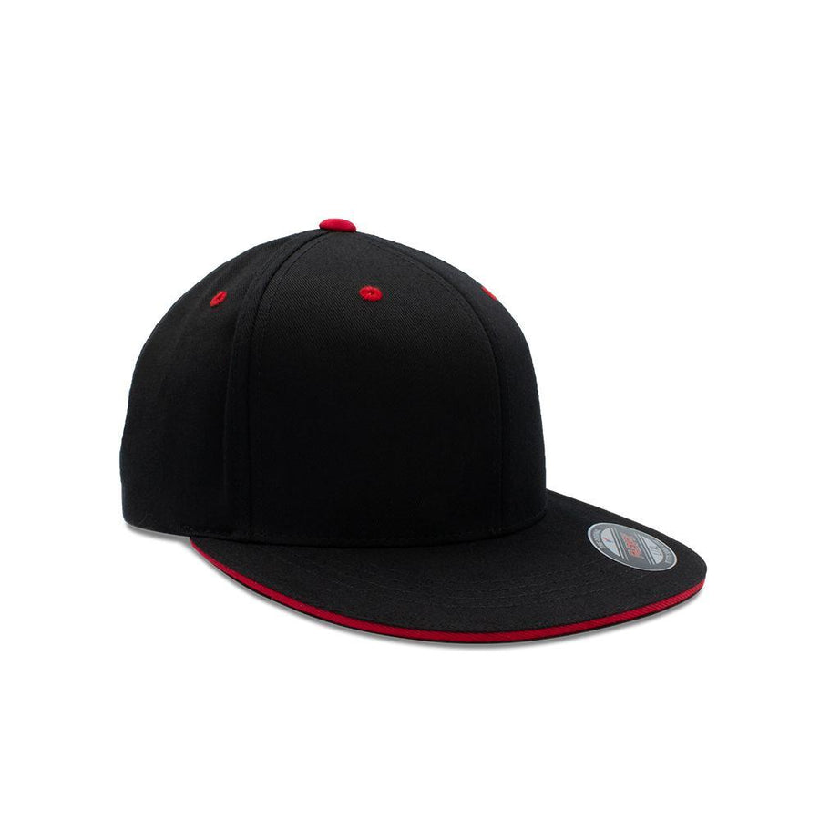 Flexfit Flat Peak - Red & Black