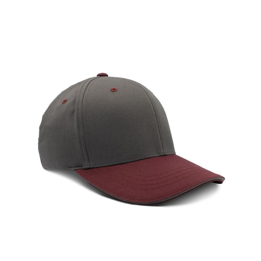 Flexfit Closed Back - Dark Grey & Deep Red