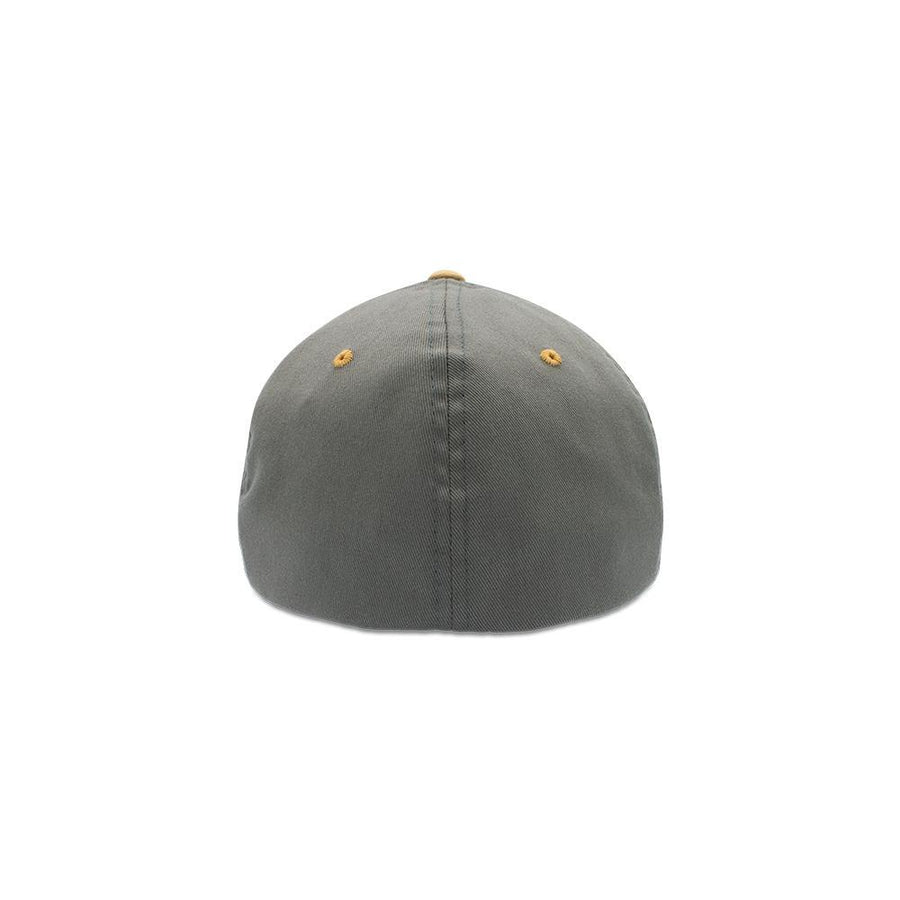Flexfit Closed Back - Pewter & Amber Gold