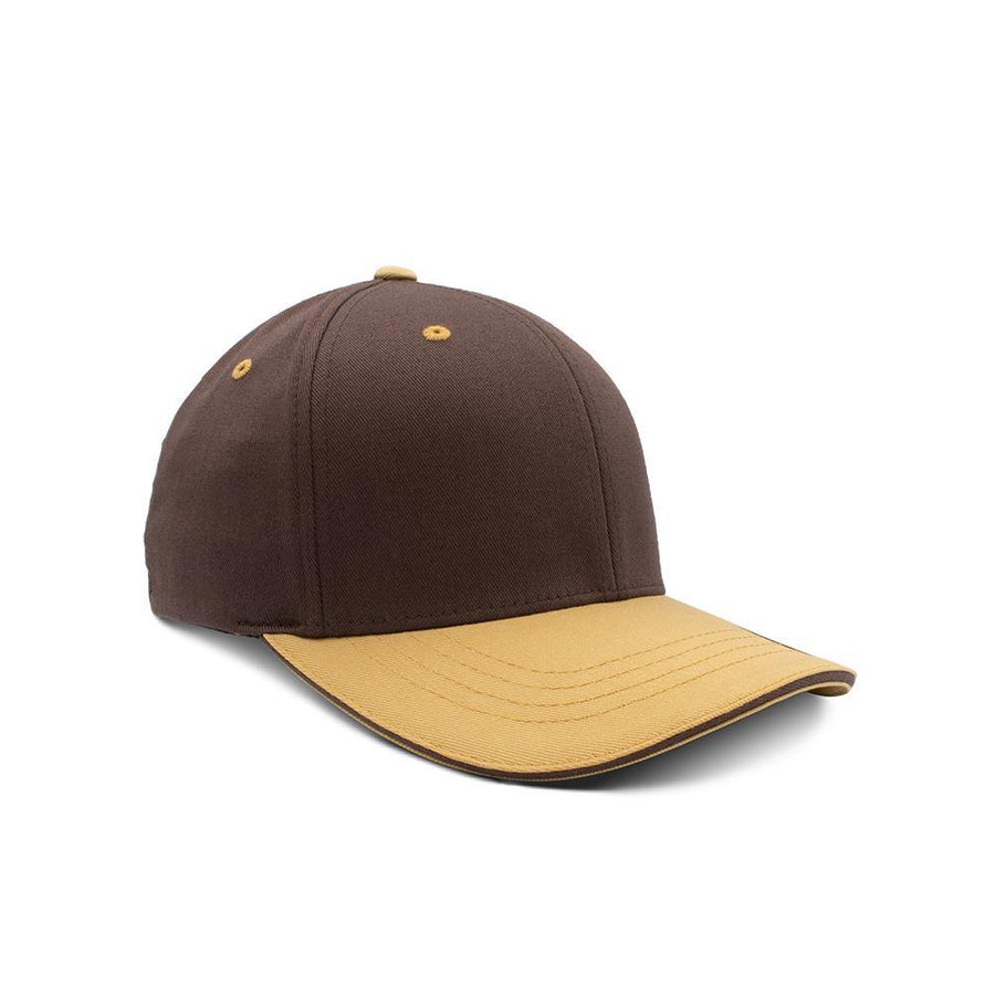 Flexfit Closed Back - Brown & Amber Gold