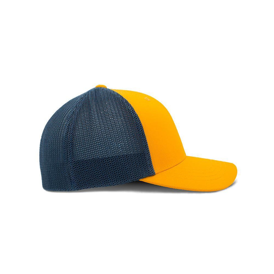 Flexfit Trucker - Vivid Yellow & Slate Blue