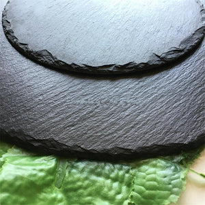 Round Natural Slate Dishes