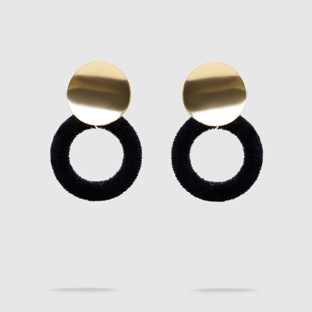 Minimalistic Velvet Earrings