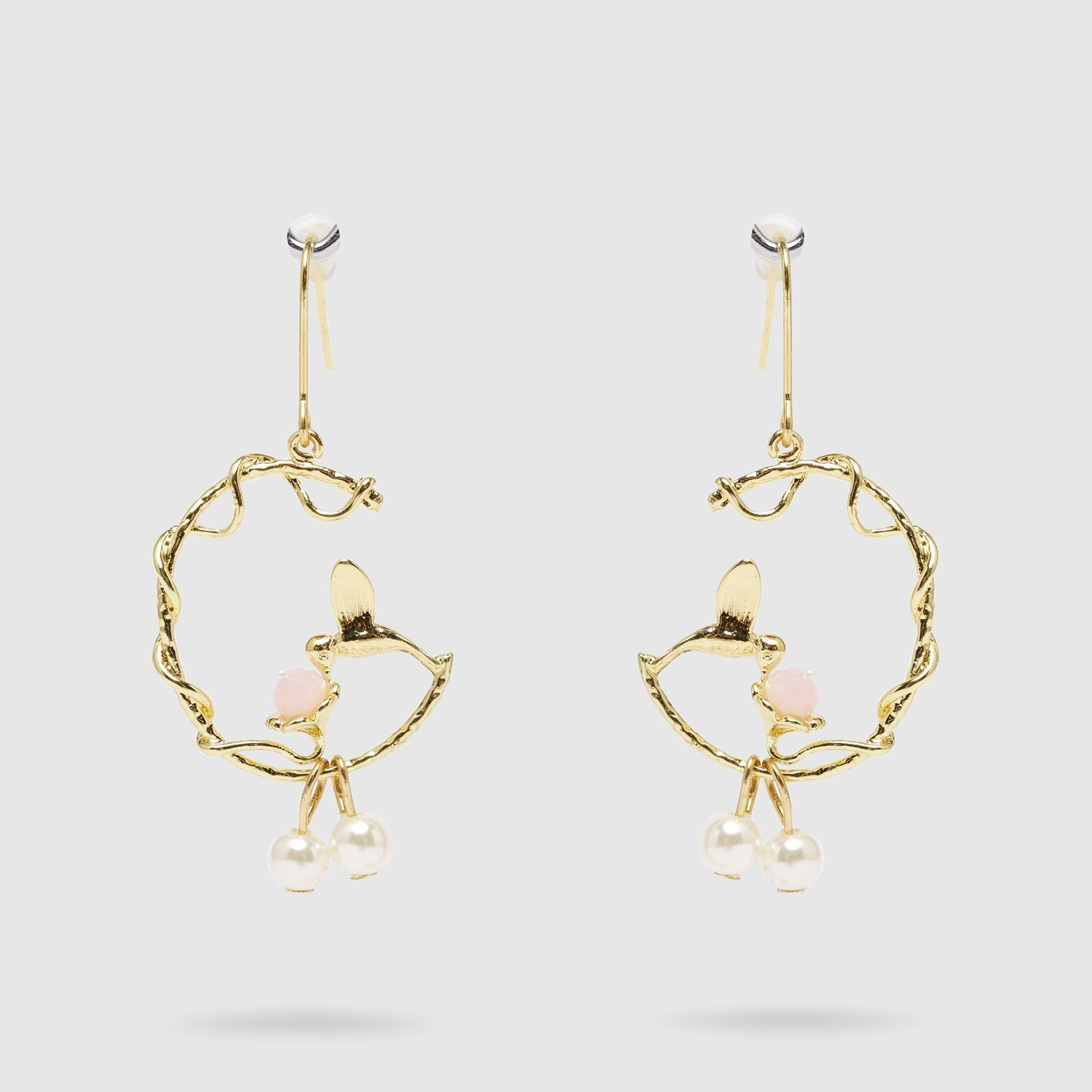 Hummingbird Earrings Gold Colour
