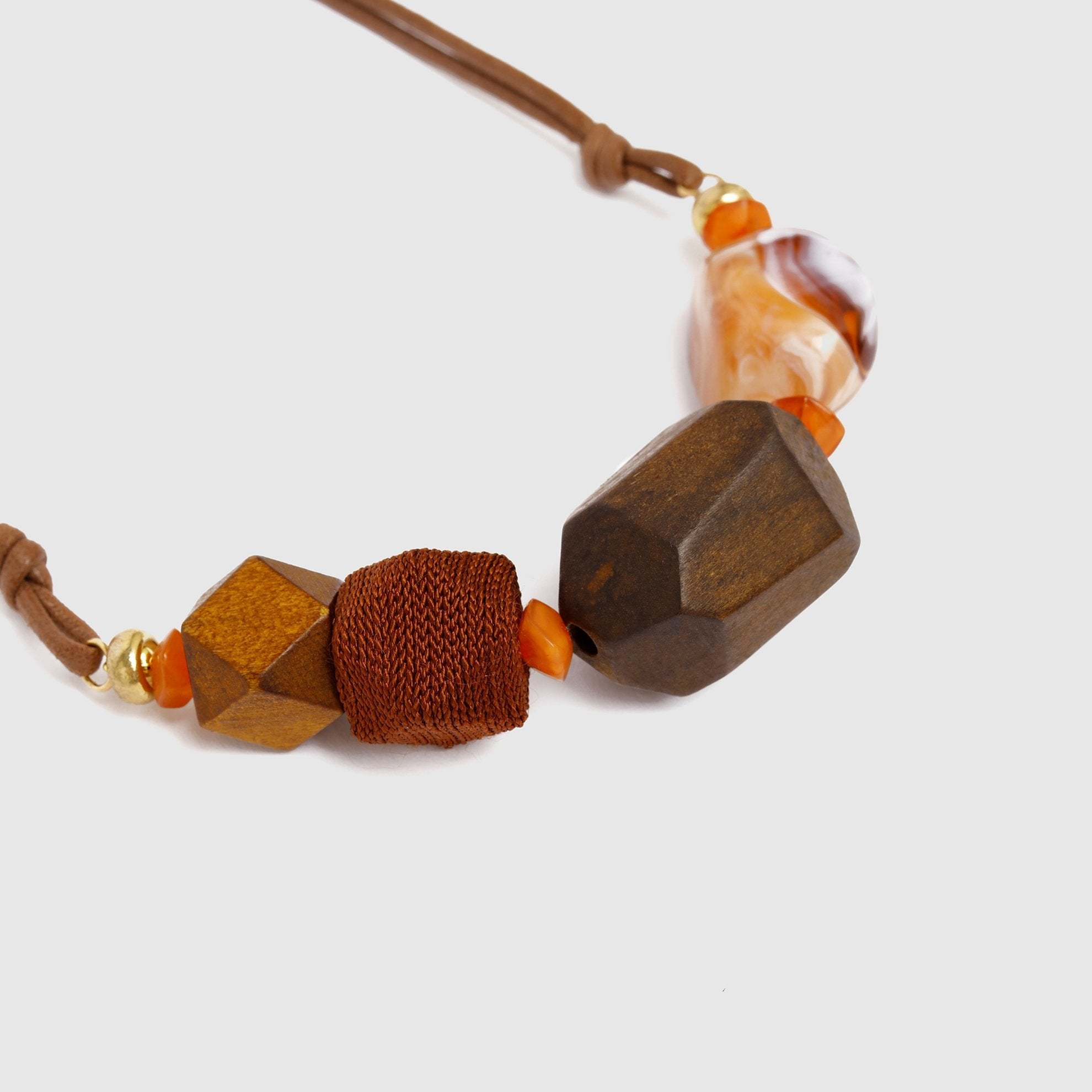 Geometric Shape Necklace Close View