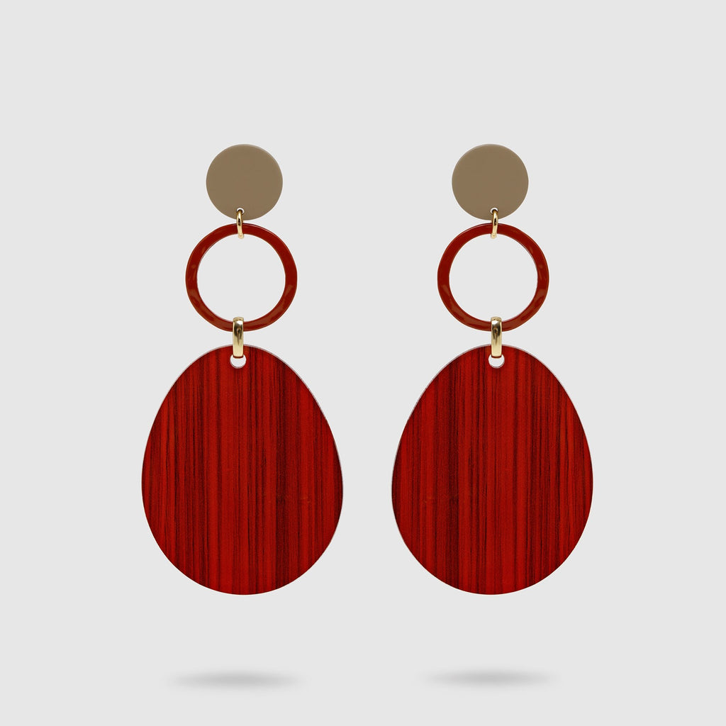 Minimalistic Red Earrings