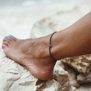 Faith bracelet used as an anklet