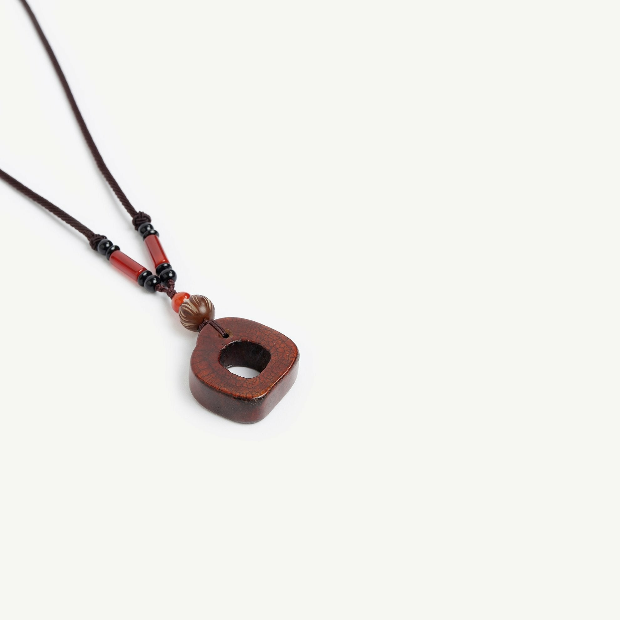 Brown Stone Necklace With Hole