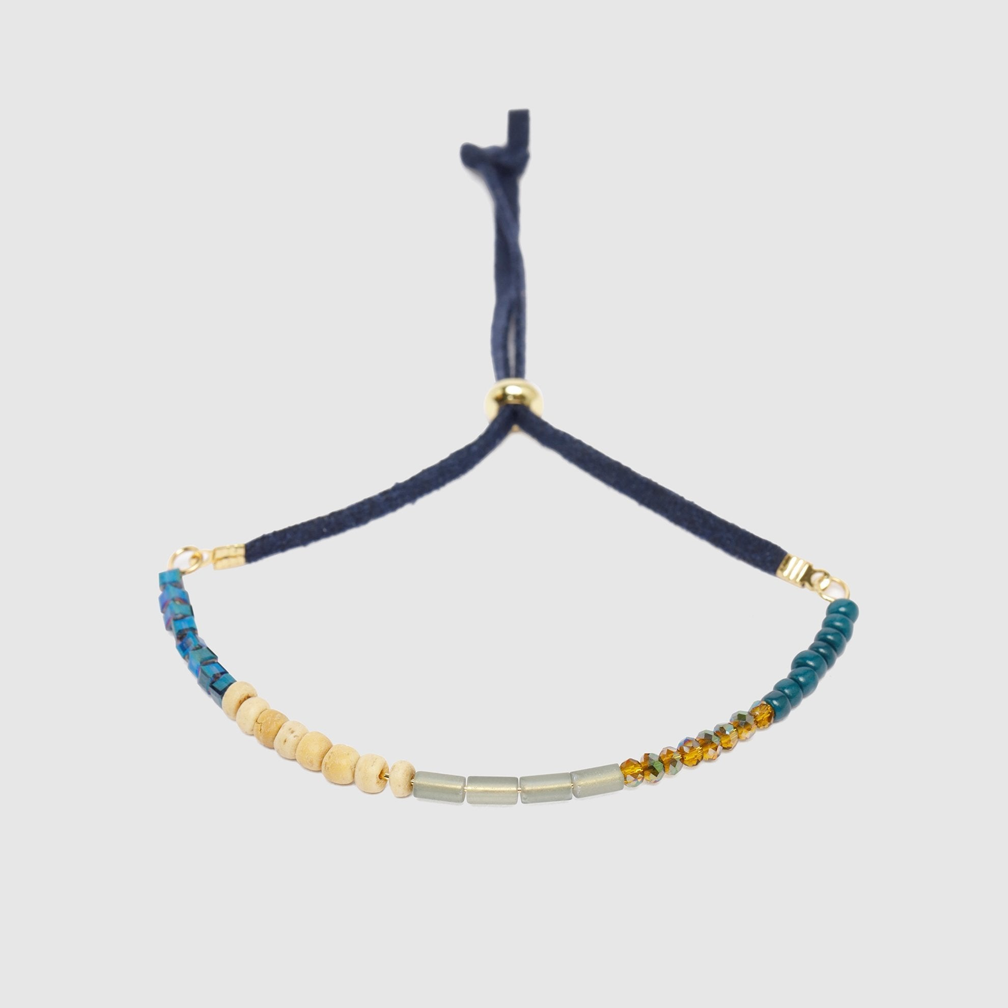 Navy Blue Suede Band Bracelet