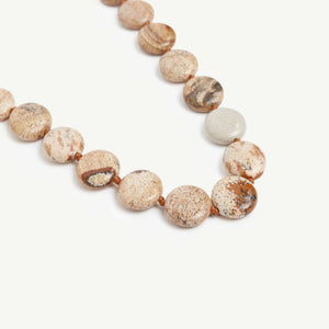 Jasper stone necklace close look