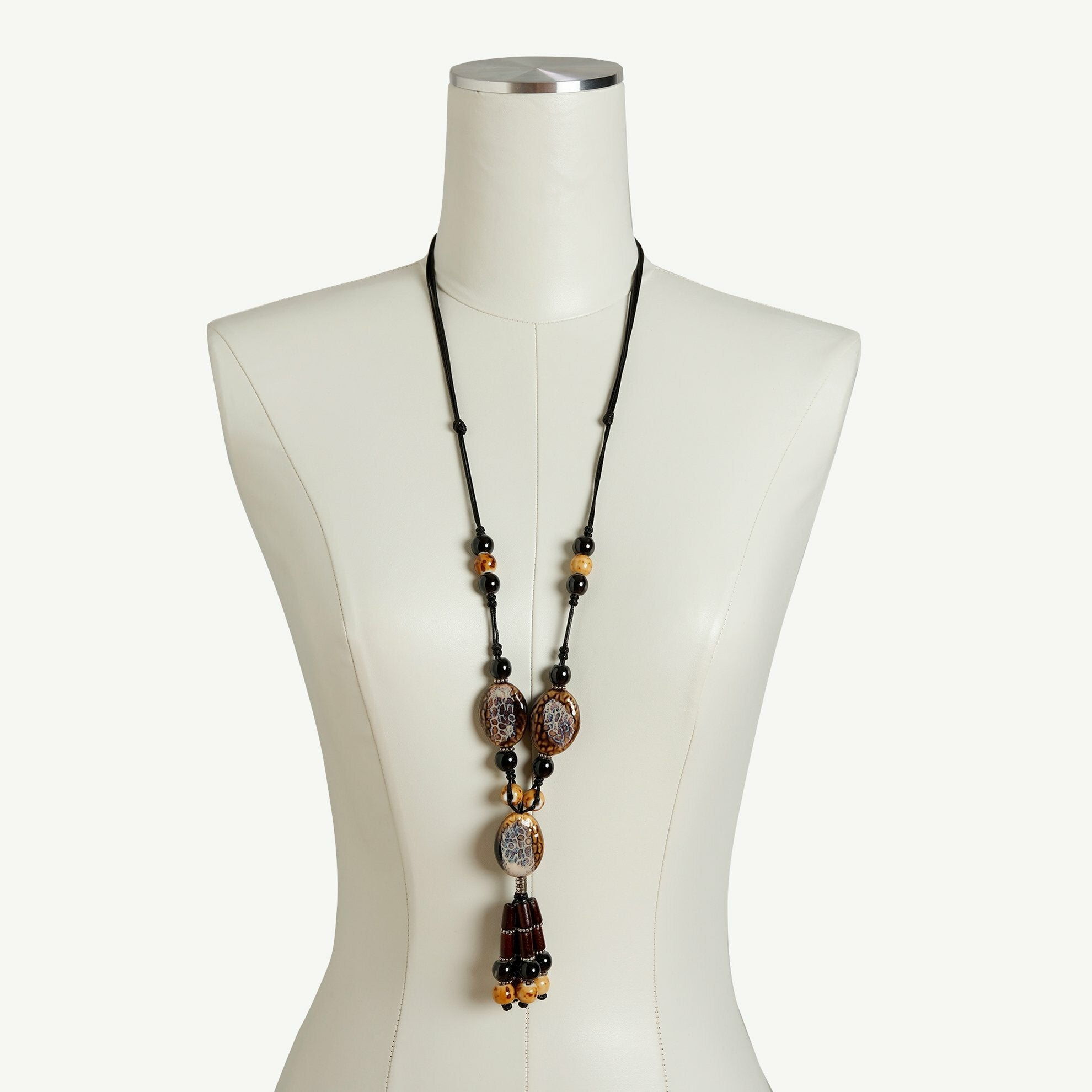 Natural Stone Necklace on Dress Form