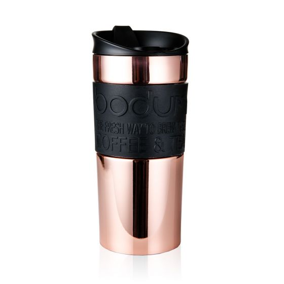 BODUM STAINLESS STEEL TRAVEL MUG, 12 OZ - COPPER