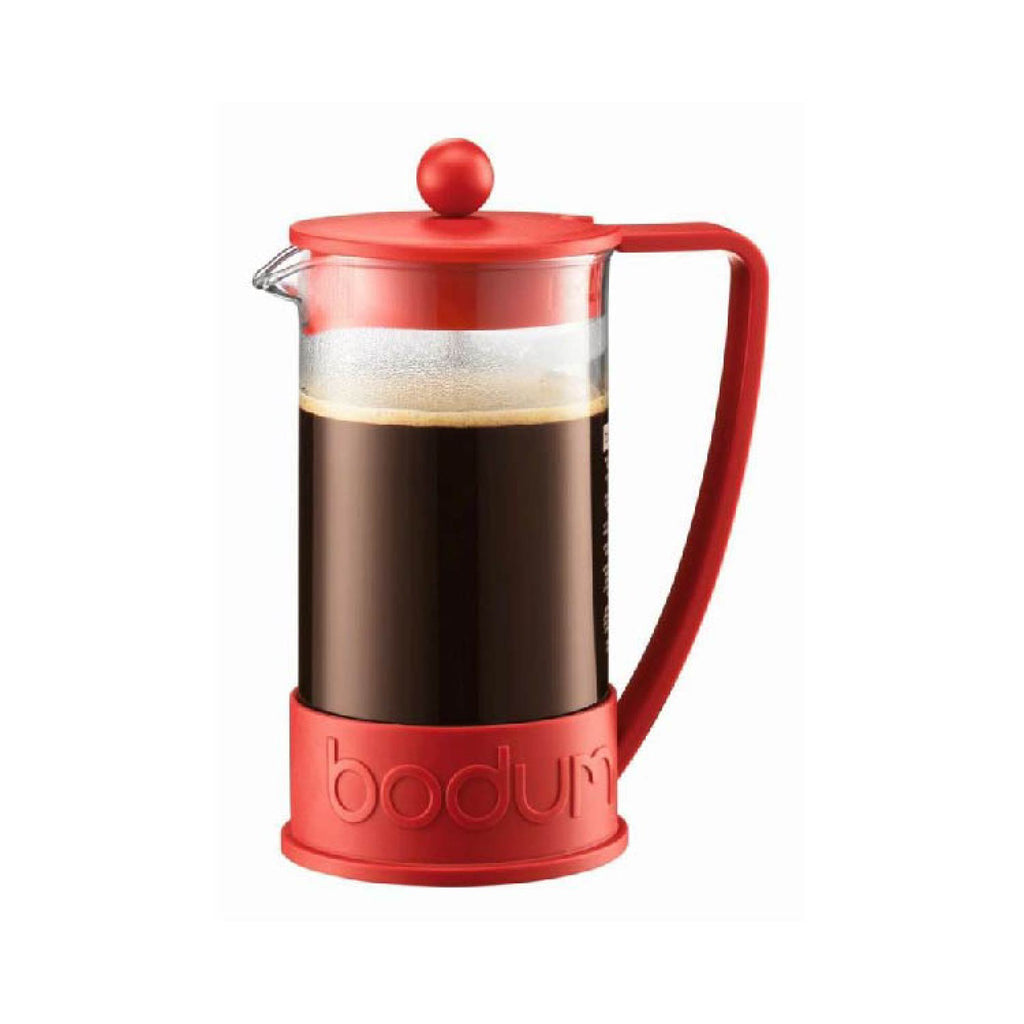 BODUM BRAZIL FRENCH PRESS COFFEE MAKER, 8 CUP, 1.0 L, 34 OZ - RED