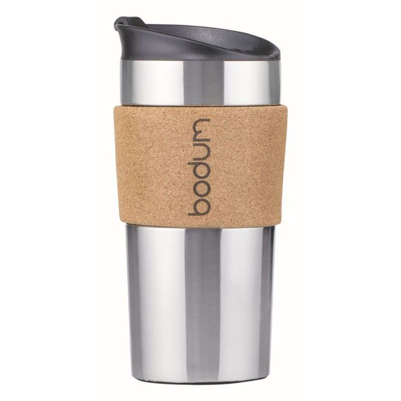 BODUM STAINLESS STEEL TRAVEL MUG, 12 OZ - CORK