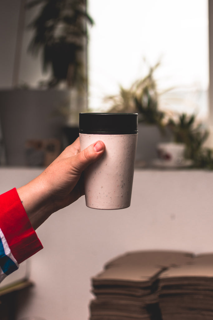 8 oz CIRCULAR&CO. Reusable Cup - CREAM/BLACK