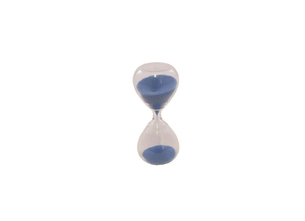 TEA TIMER - 3 MINUTE GLASS SAND TIMER - BLUE