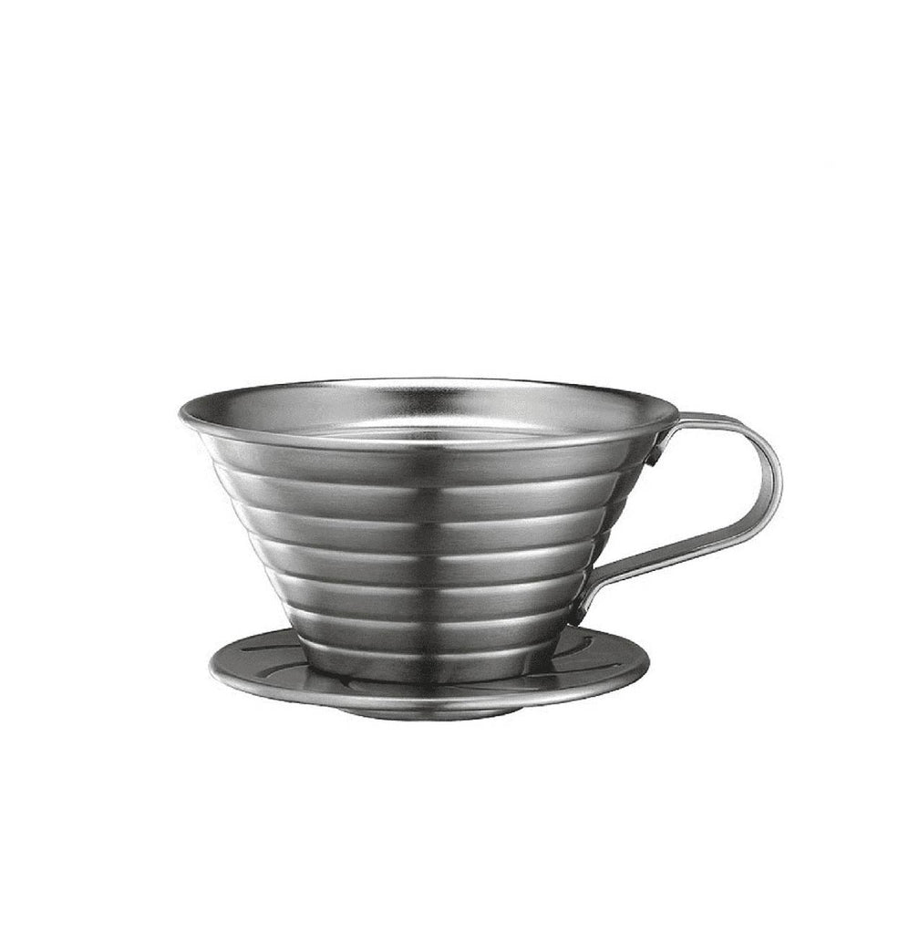TIAMO K02 POUR OVER DRIPPER - stainless steel
