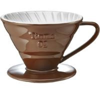 TIAMO V60 COFFEE DRIPPER 02 - CERAMIC BROWN