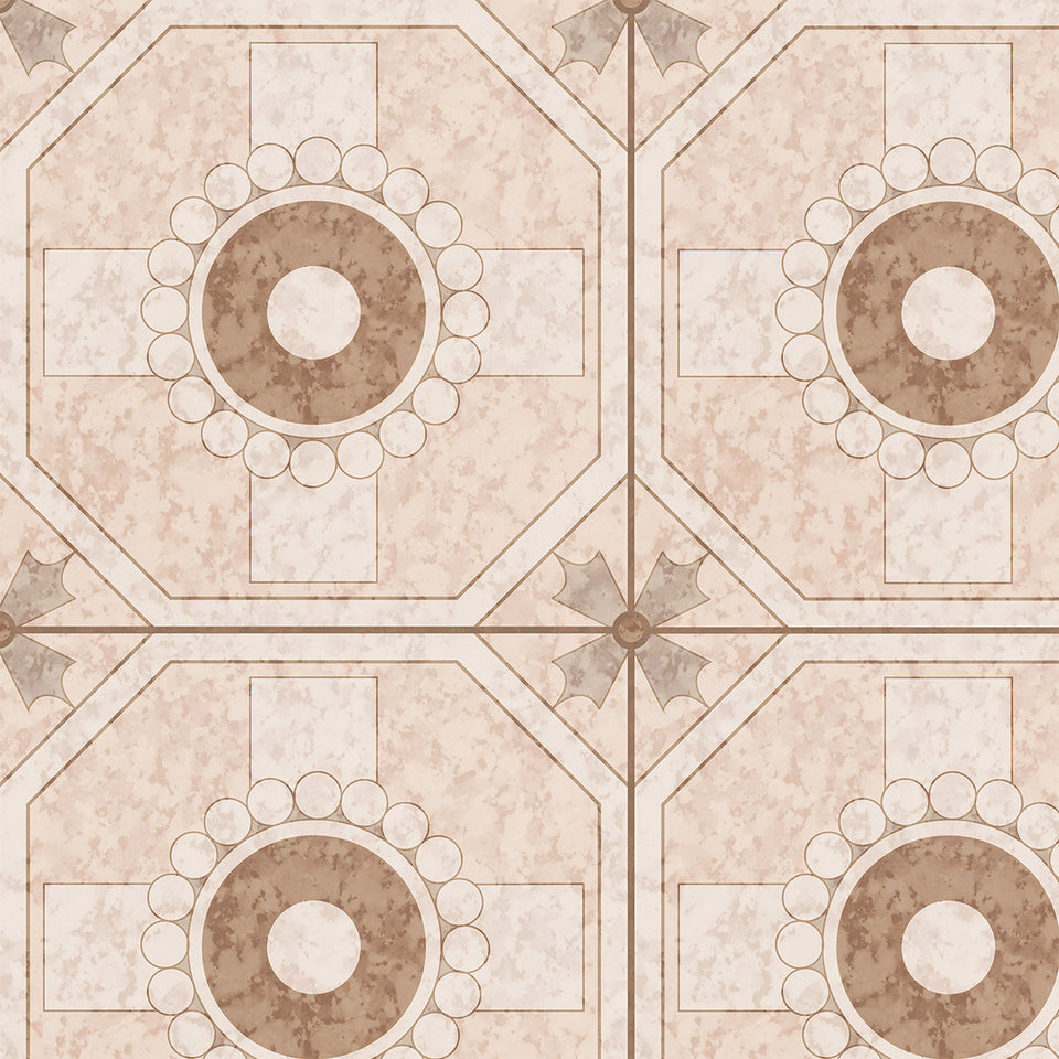 70s Pink Marble Tile Wallpaper