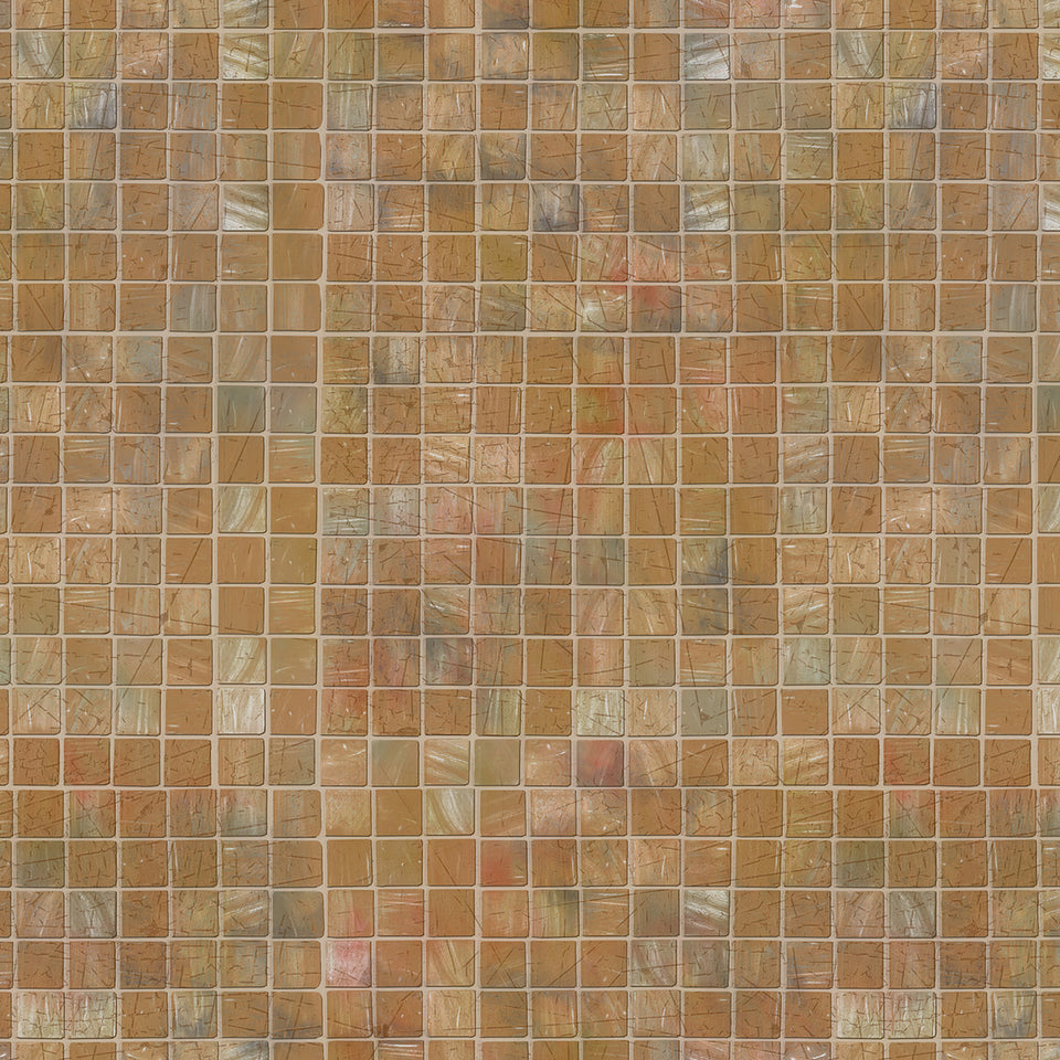 Gold Mosaic Tile Wallpaper
