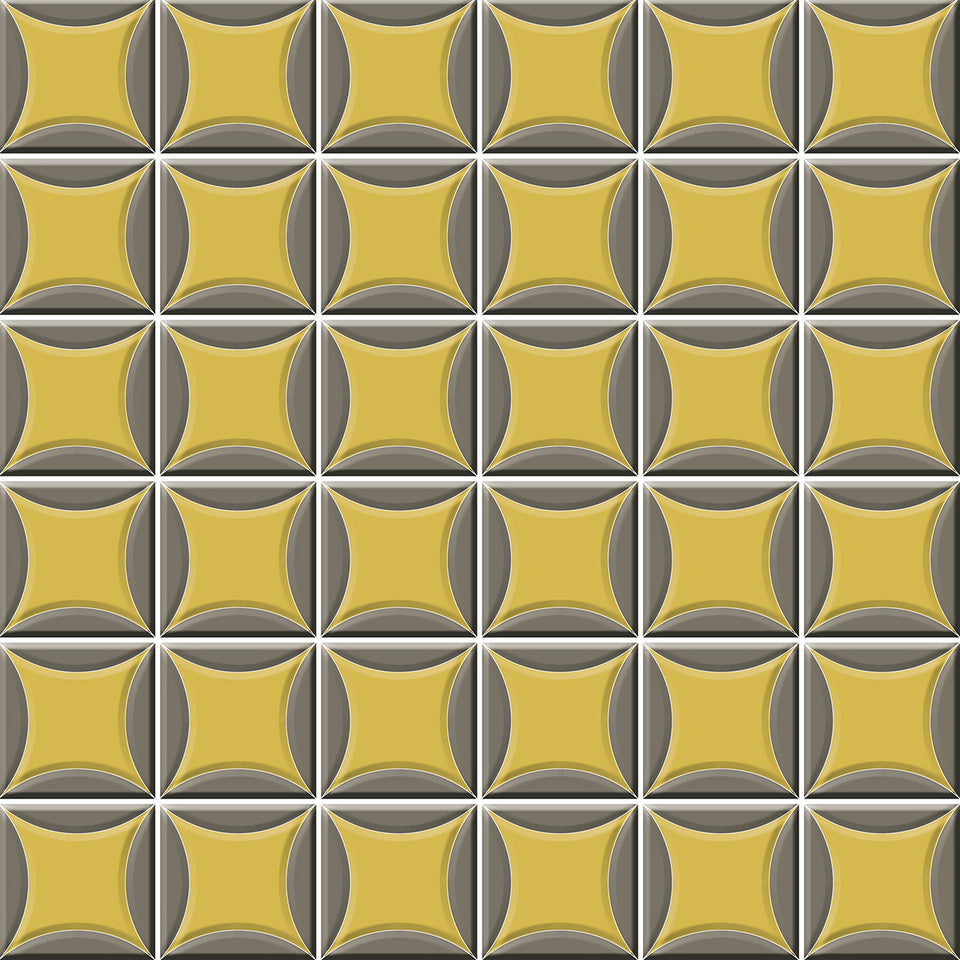 Grey and Yellow Tile Wallpaper