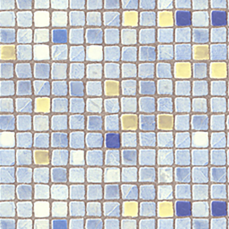 Light Blue Mosaic Tile Wallpaper