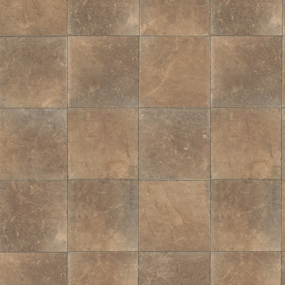 Brown Square Slate Tile Wallpaper