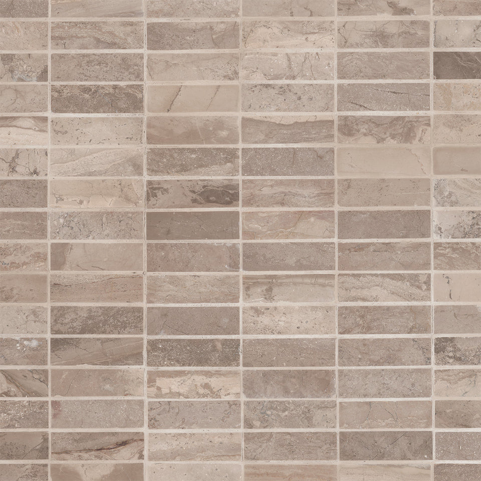 Taupe Natural Stone Horizontal Tile Wallpaper