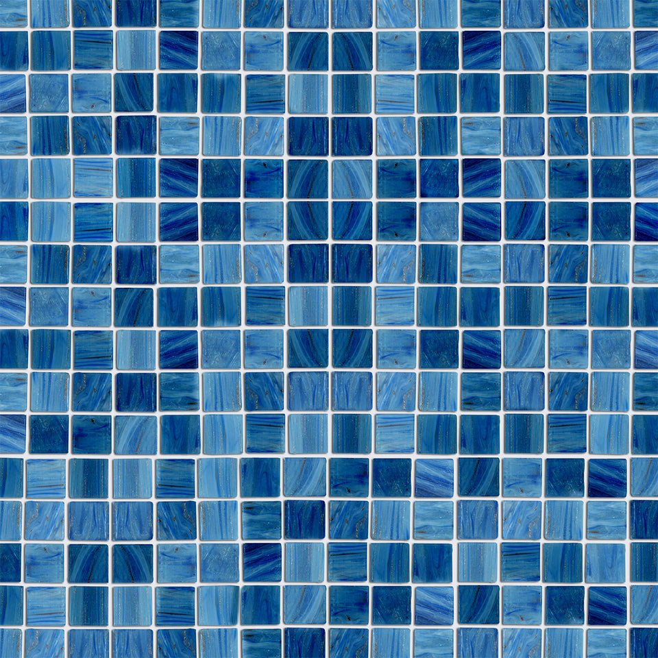 Blue Brushed Glass Tile Wallpaper