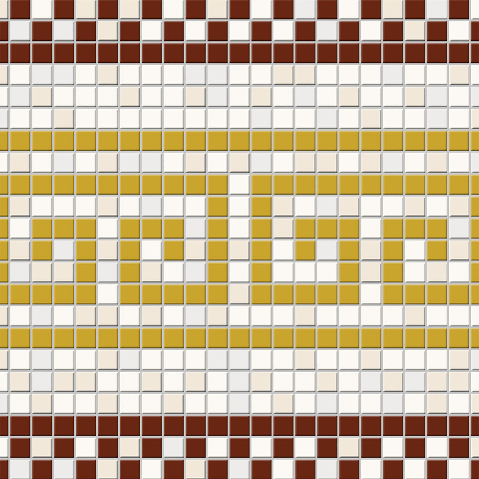 Yellow and Red Greek Key Tile Wallpaper