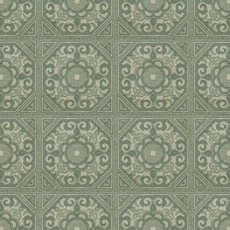 Green painted Tile Wallpaper