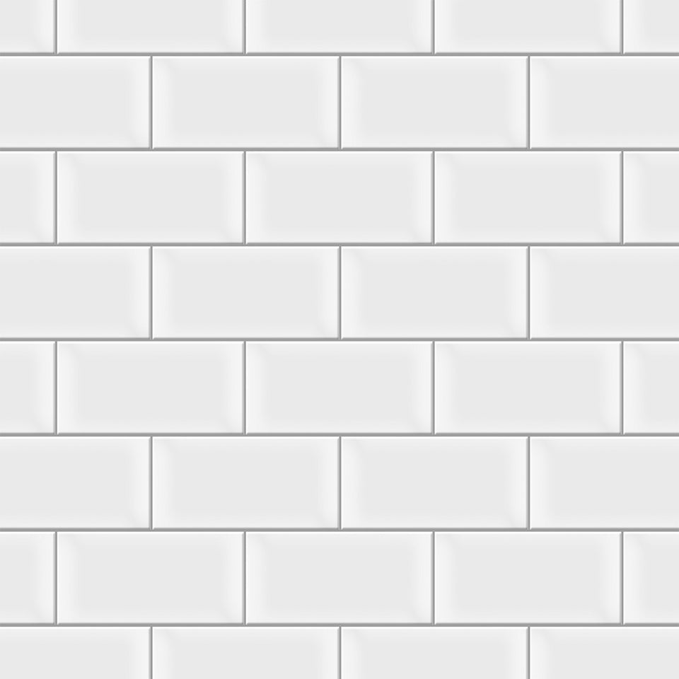 White Horizontal Tile Wallpaper