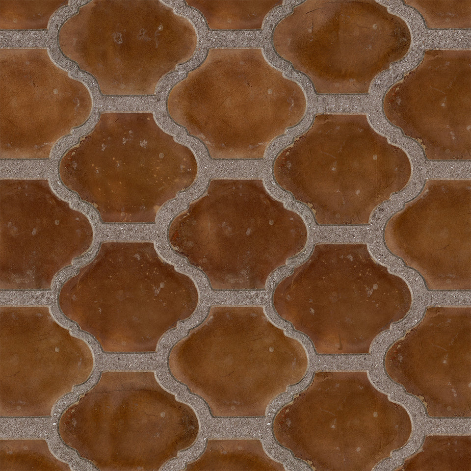 Sienna Terracotta Tile Wallpaper