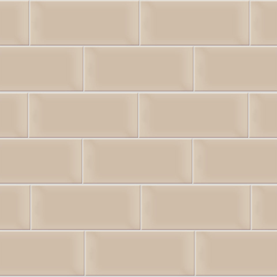 Beige Horizontal Tile Wallpaper