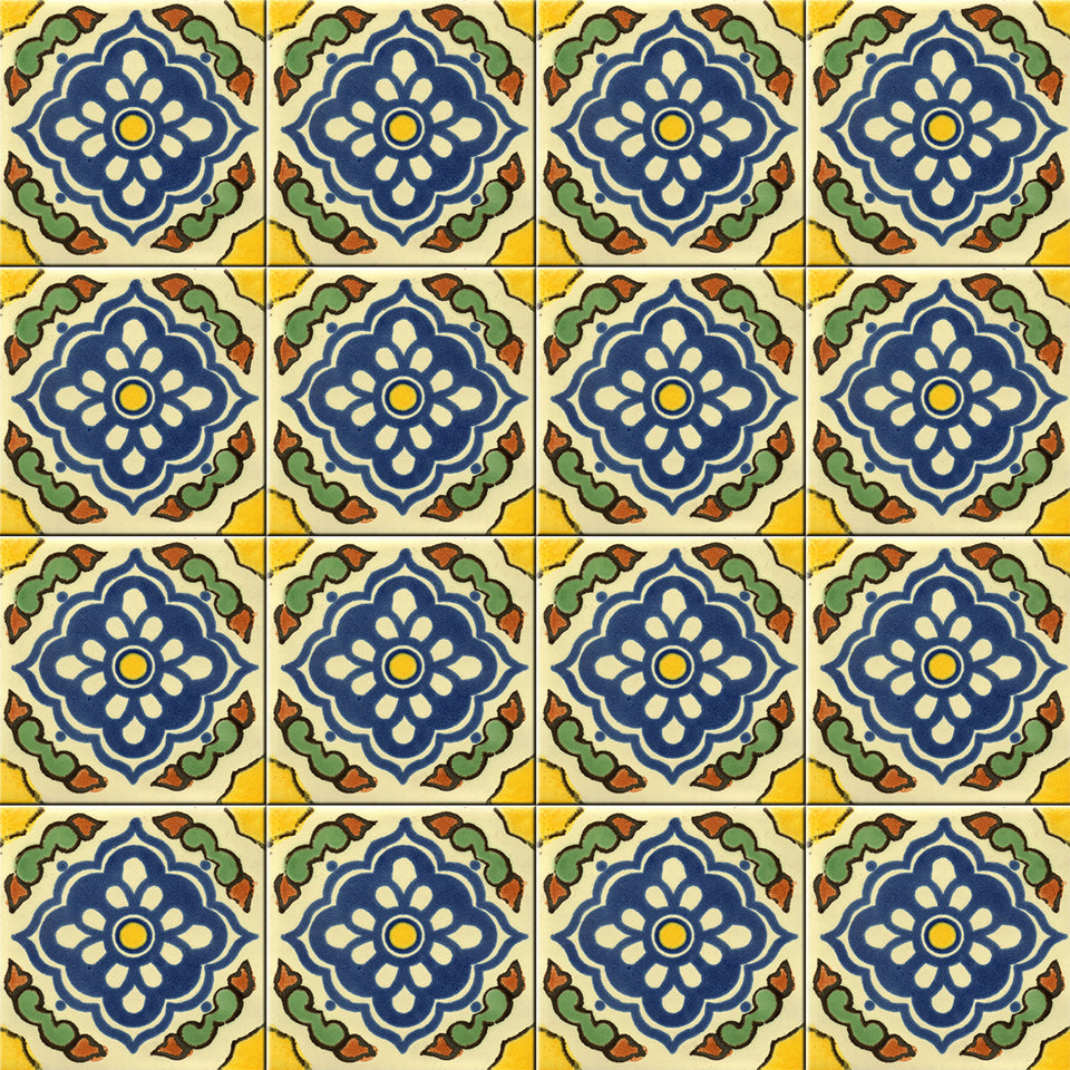 Yellow Spanish Tile Wallpaper