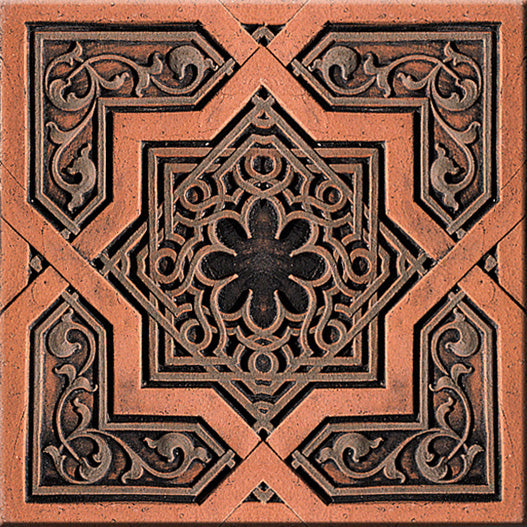 Aged Copper Ceiling Tile Wallpaper