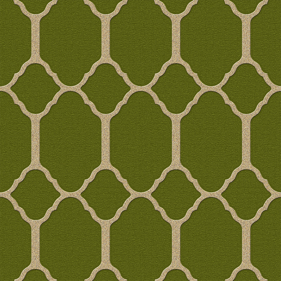 Green Pattern Tile Wallpaper