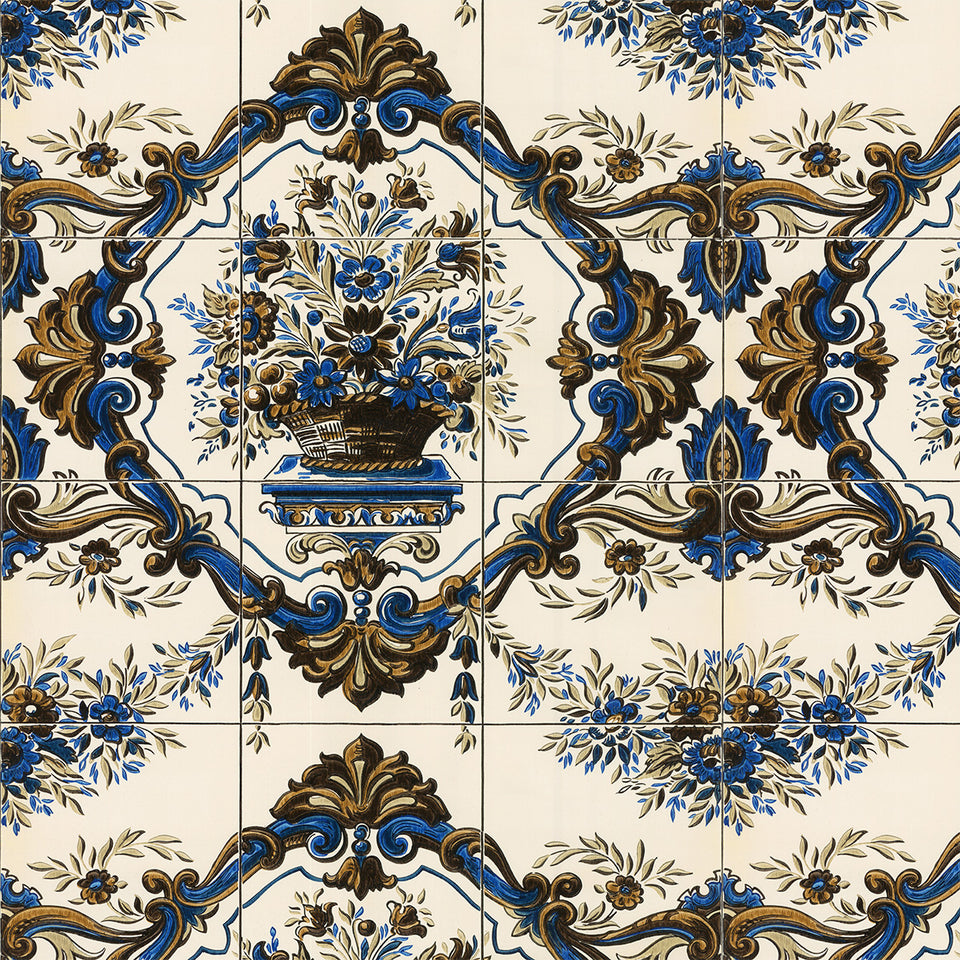 Vintage flower Bouquet Tile Wallpaper