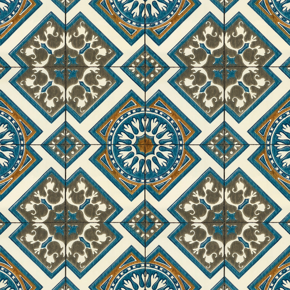 Vintage Screenprint Pattern Tile 2 Wallpaper