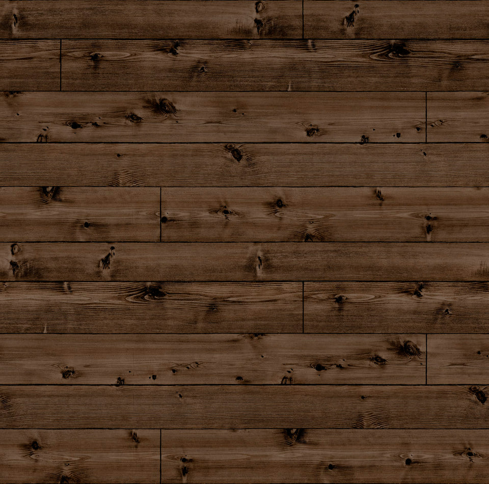 Dark Knot Wood Planks WW Wallpaper