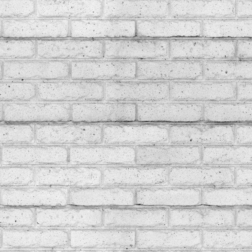 Light Grey White Brick Wallpaper