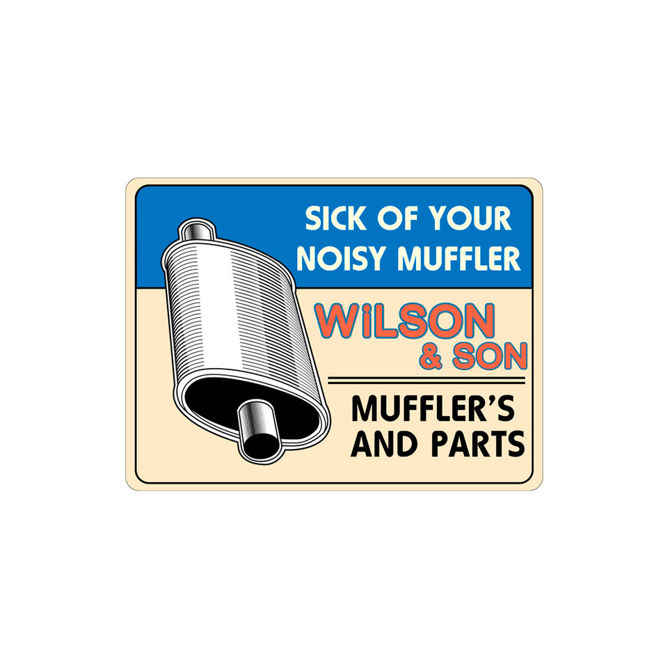 Wilson & Son Muffler Sign Wallpaper