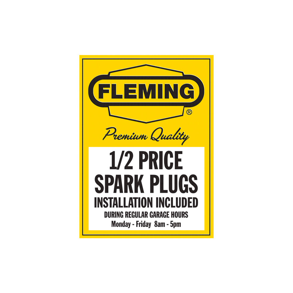 Fleming Spark Plugs Sign Wallpaper