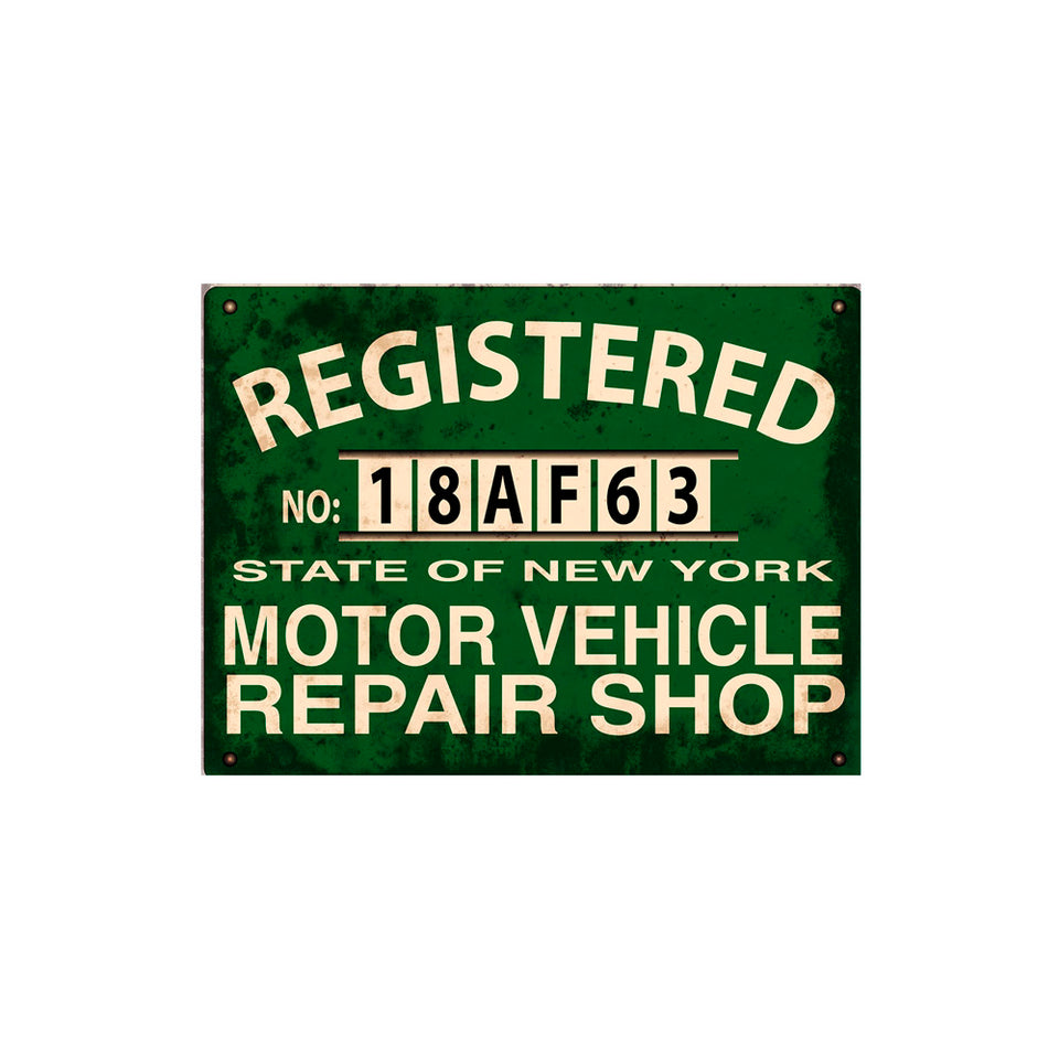 Registered Motor Vehicle Repair Shop Sign Wallpaper