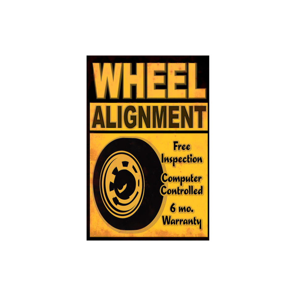 Wheel Alignment Sign Wallpaper
