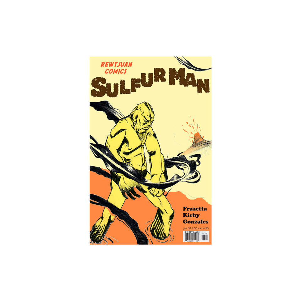 Sulfur Man Comic Book Wallpaper