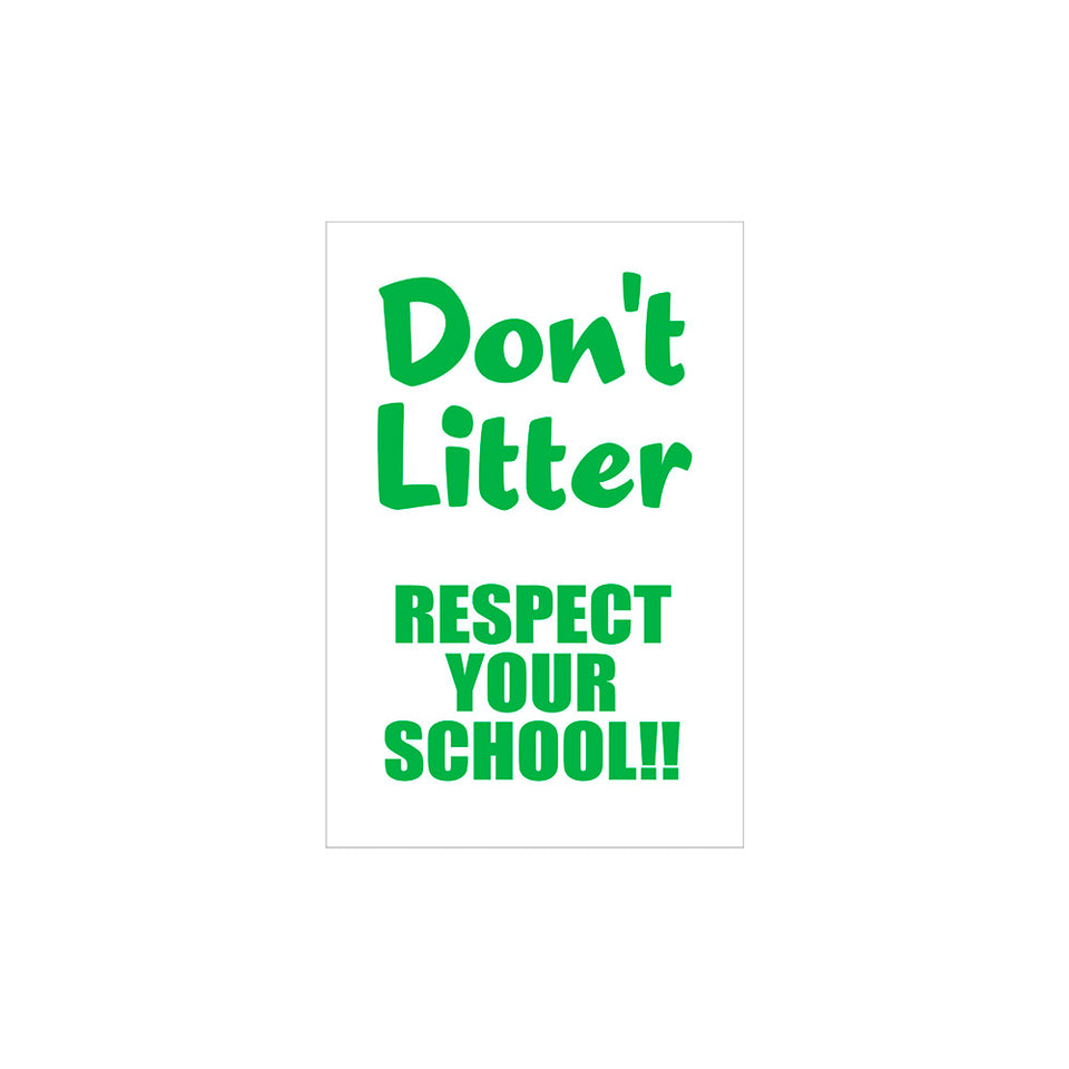 Don't Litter Flyer Wallpaper