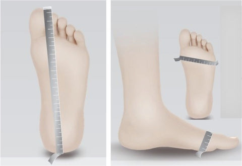 how to measure foot length and width or ball circumference