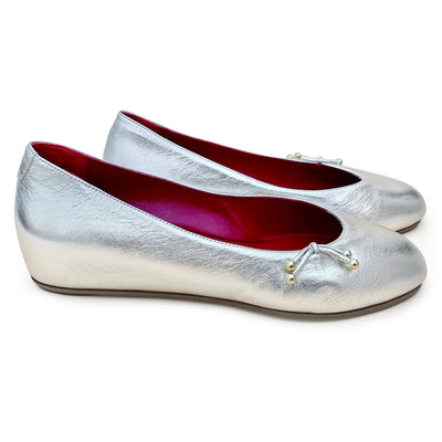 The Ballet Flat Metallic Leather - Kira Bani